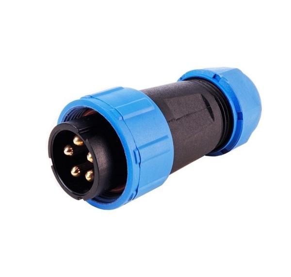 Deko-Light Kabelsystem, Weipu Stecker 5-polig, Kunststoff, 24V, 65mm