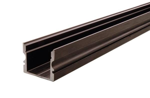 Reprofil Profil, U-Profil hoch AU-02-12, Aluminium, Schwarz-matt eloxiert, 2000mm
