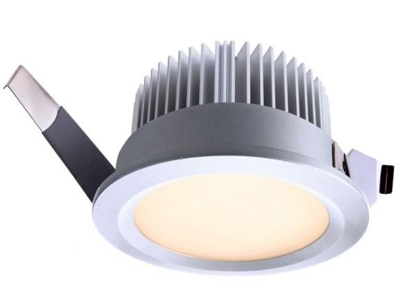 Deko-Light Deckeneinbauleuchte, Aluminium Druckguss, silberfarben, Warmweiß, 110°, 13W, 37-38V