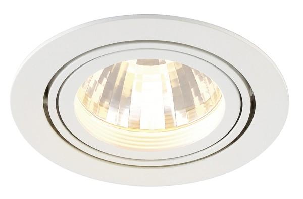 NEW TRIA DISK, Einbauleuchte, LED, 2700K, rund, weiß matt, 35°, inkl. Clipfedern