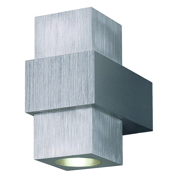 AIDAN UP-DOWN Wandleuchte, alu brushed, 2x1W LED, 3000K