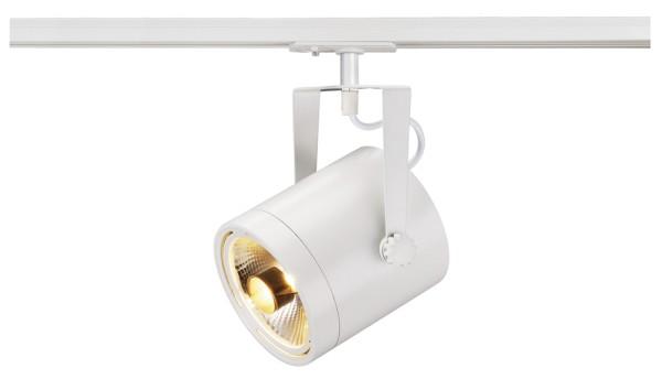 EURO SPOT, Spot für Hochvolt-Stromschiene 1Phasen, QPAR111, weiß, max. 75W, inkl. 1Phasen-Adapter