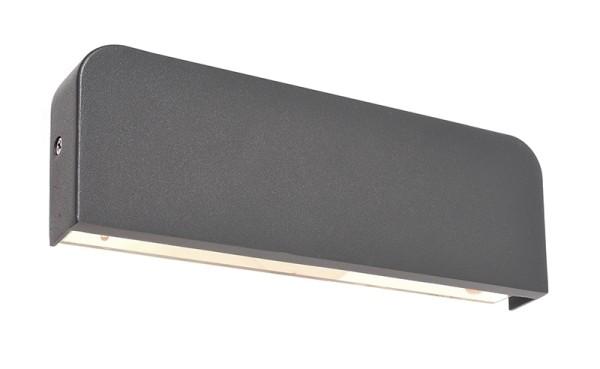 Deko-Light Wandaufbauleuchte, Tania, Aluminium Druckguss, dunkelgrau, Warmweiß, 360°, 9W, 230V