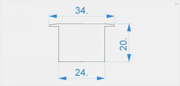 Reprofil Profil Zubehör, Endkappe I-ET-05-15 Set 2 Stk, Kunststoff, Grau, 34x24mm