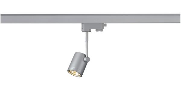 BIMA 1, Spot für Hochvolt-Stromschiene 3Phasen, einflammig, QPAR51, rund, silbergrau, max. 50W