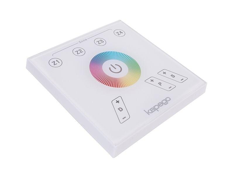 Deko Light Controller, Touchpanel RF Color, Kunststoff, Weiß, Blau, 2W, 230V, 87x87mm