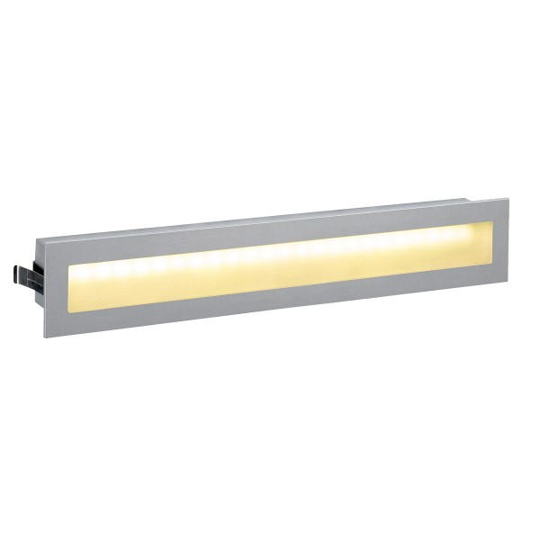 GLENOS, Einbauleuchte, LED, 3000K, rechteckig, silbergrau, 3W