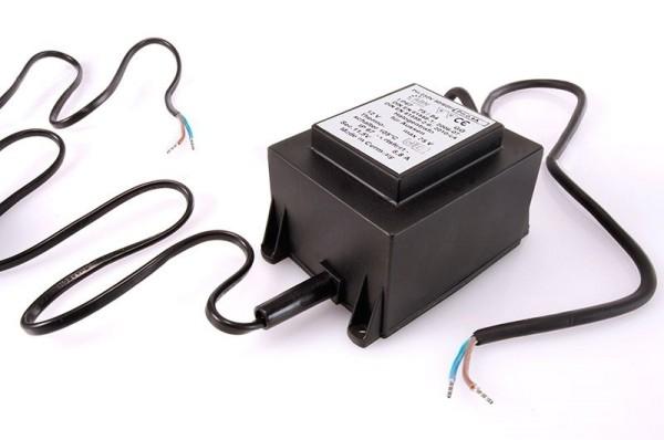 Netzgerät, ABN Transformator 12 VAC, 75 W, IP 67, Kunststoff, Schwarz, 75W, 11V, 108x81mm