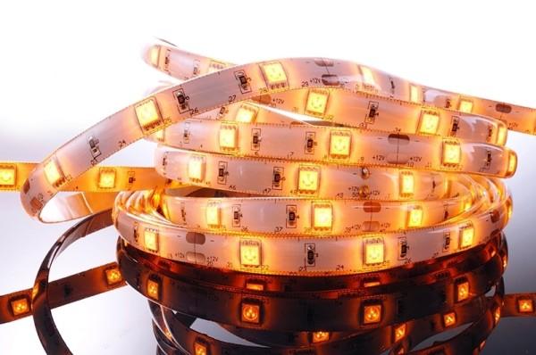 Flexibler LED Stripe IP 33 12V, 5 m Rolle, gelb