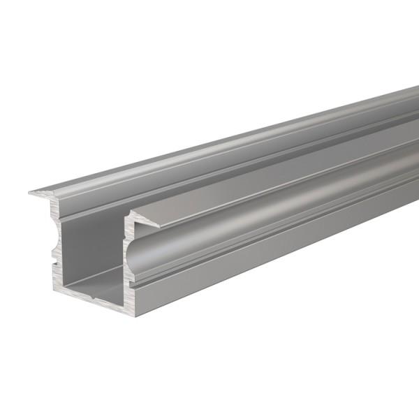 Reprofil, T-Profil hoch ET-02-12 für LED Stripes bis 13,3 mm, Silber-matt, eloxiert, 2000 mm