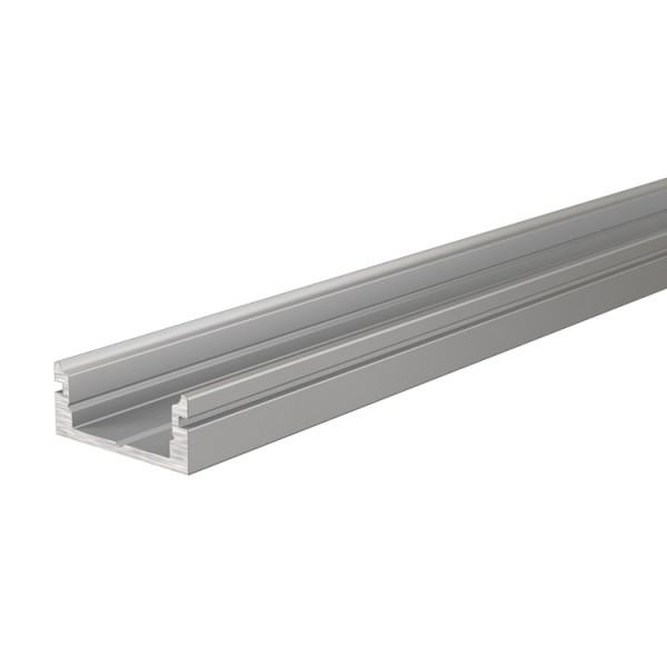 Reprofil, U-Profil flach AU-01-10 für LED Stripes bis 11,3 mm, Silber-matt, eloxiert, 4000 mm