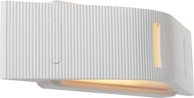 Outdoorwandleuchte Grafos silber, UV Beständiger Kunststoff, max. 60Watt, E27, IP54