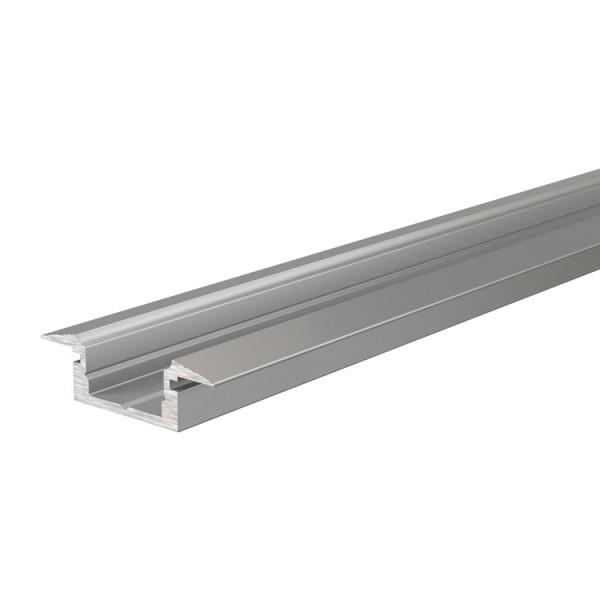 Reprofil, T-Profil flach ET-01-08 für LED Stripes bis 9,3 mm, Silber-matt, eloxiert, 2000 mm