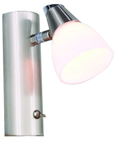 Wandleuchte Vito 3, 1 flammig, Edelstahloptik, 230V, G9, max 40W, dreh-schwenkbar, inkl. Leuchtmitte