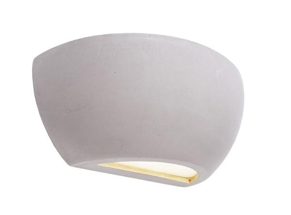 Deko-Light Wandaufbauleuchte, Netito II, Beton, grau, 25W, 230V, 245x120mm