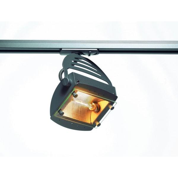 SKELETTO Lampenkopf inkl. 1P.-Adapter, silbergrau, R7s, max. 150W