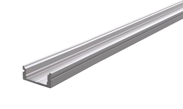 Reprofil Profil, U-Profil flach AU-01-10, Aluminium, Silber-matt eloxiert, 2000mm