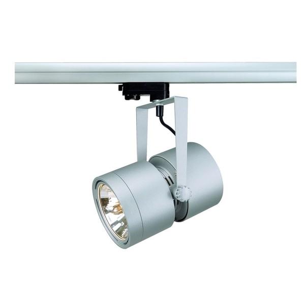 EURO SPOT QRB111, silbergrau, max. 75W, inkl. 3P.-Adapter