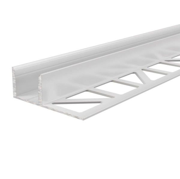 Reprofil Profil, Fliesen-Profil EL-03-12, Aluminium, Weiß lackiert, 1250mm