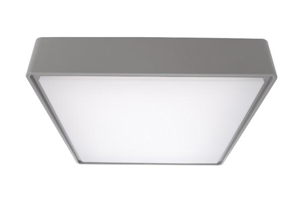 Deko-Light Deckenaufbauleuchte, Quadrata II, Kunststoff, grau, Neutralweiß, 115°, 16W, 230V