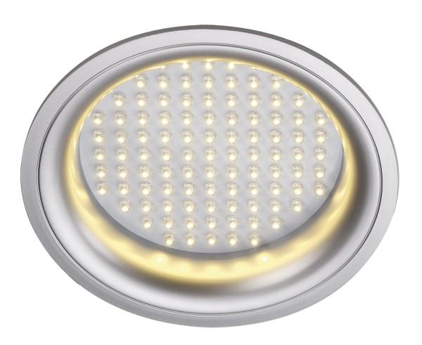 LED PANEL, Einbauleuchte, LED, 3000K, rund, silbergrau, 8W