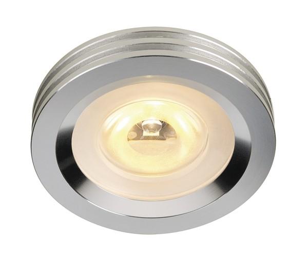 ALUMINIUM DOWNLIGHT, Einbauleuchte, LED, 3000K, rund, aluminium gebürstet, 3W