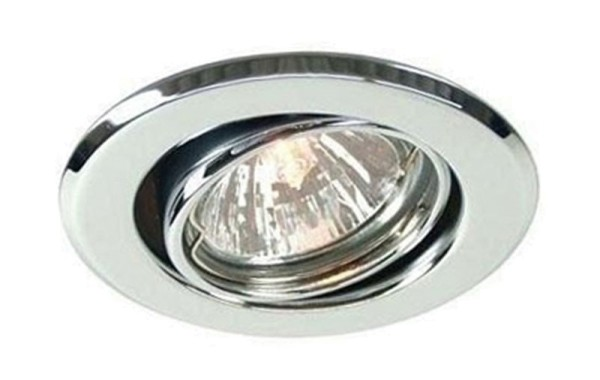 Deko-Light Deckeneinbauring, Metall, silberfarben Chrom, 50W, 12V