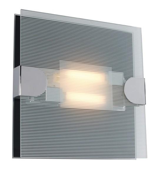 Wandleuchte Loncha II , Glas klar/ schwarz 2x26 W