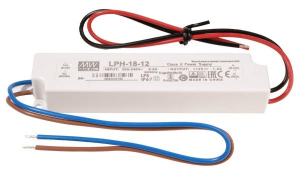 Meanwell Netzgerät, LPH-18-24, Kunststoff, Weiß, 18W, 24V, 140x30mm
