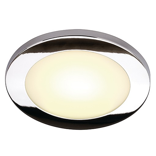 REAL N-TIC LED Downlight, rund, gross, chrom, 3,8W, 12 SMD LED, warmweiss, 3200K