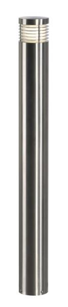 VAP SLIM 90, Outdoor Standleuchte, TC-TSE, IP44, edelstahl gebürstet, Ø/H 10/90 cm, max. 20W