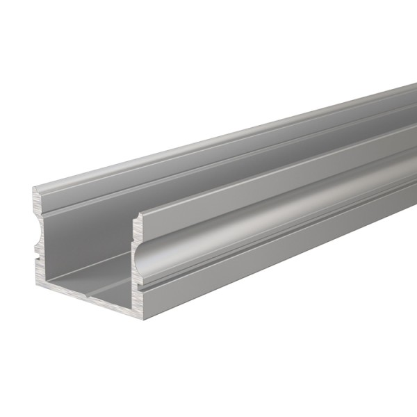 Reprofil, U-Profil hoch AU-02-15 für LED Stripes bis 16,3 mm, Silber-matt, eloxiert, 1000 mm