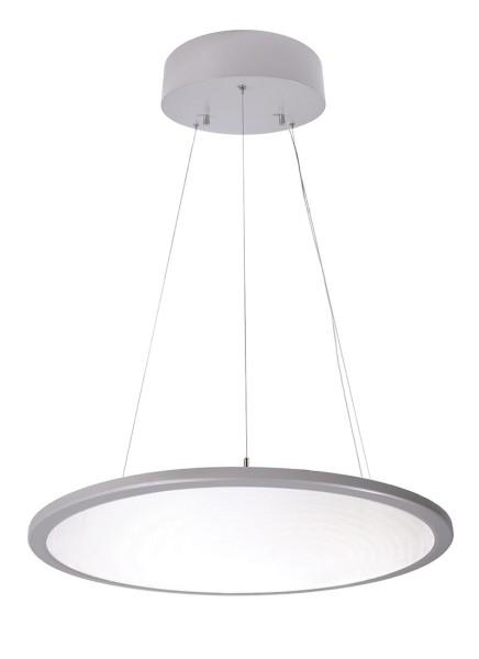 Deko-Light Pendelleuchte, LED Panel transparent rund, Aluminium, silberfarben, Neutralweiß, 150°