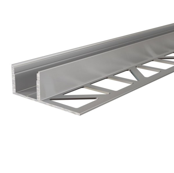 Reprofil Profil, Fliesen-Profil EL-03-12, Aluminium, Silber eloxiert, 2500mm