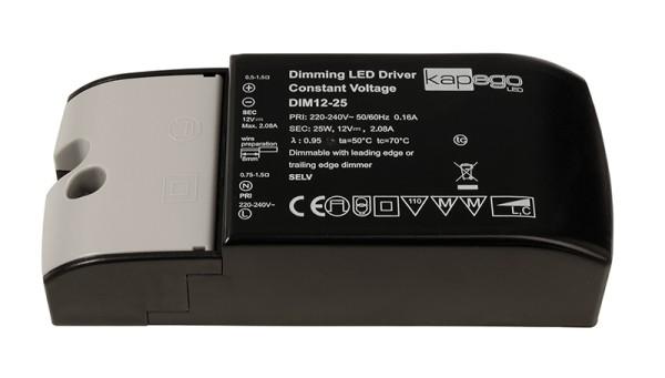 Deko-Light Netzgerät, Dimmable CV Power Supply 12V 2,5-25W, Kunststoff, Schwarz, 25W, 12V, 2080mA