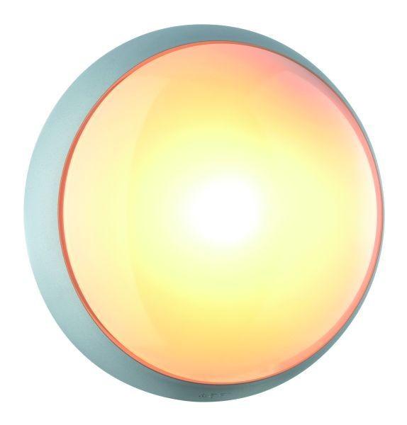 Outdoorwandleuchte Tandem silber, UV Beständiger Kunststoff, max. 60Watt, E27, IP54