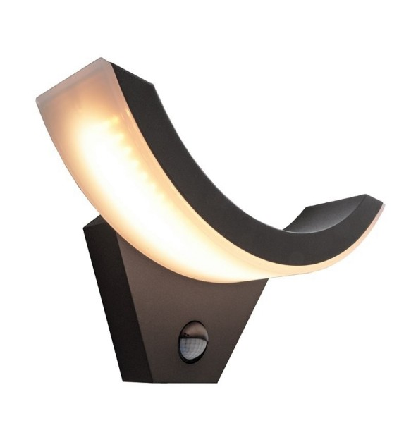 Deko-Light Wandaufbauleuchte, Oliv, Aluminium Druckguss, anthrazit, Warmweiß, 8W, 230V, 293x92mm