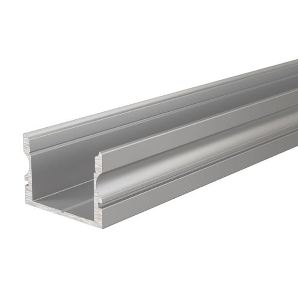 Reprofil, U-Profil hoch AU-02-15 für LED Stripes bis 16,3 mm, Silber-matt, eloxiert, 2000 mm