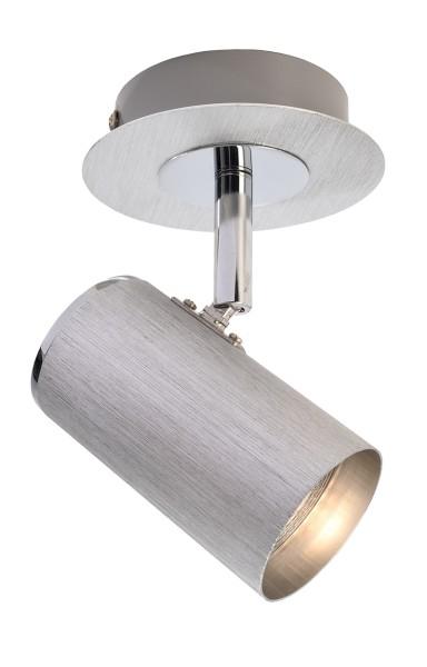 Deko-Light Deckenaufbauleuchte, Indi I, Aluminium, silberfarben gebürstet, 50W, 230V