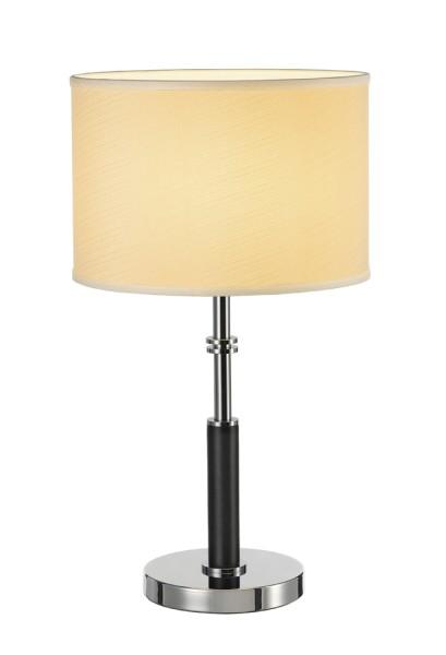 SOPRANA 1, Tischleuchte, A60, rund, Schirm cremeweiß Ø/H 32/22 cm, max. 60W