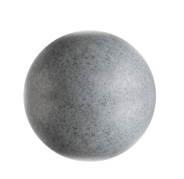 Deko-Light Dekorative Leuchte, Kugelleuchte Granit 38, Polyethylen (LLDPE), grau Granikoptik, 42W