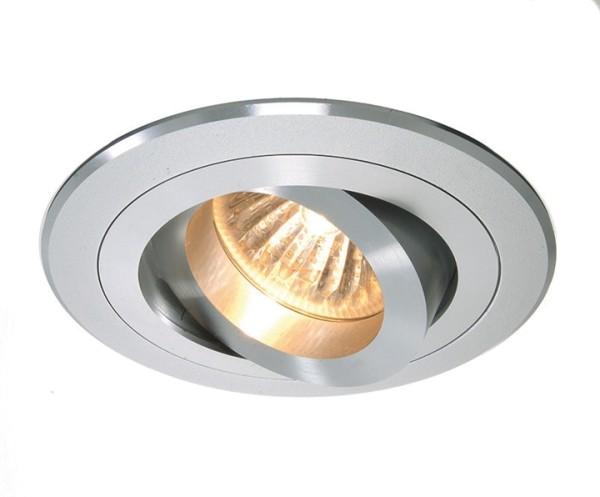 Kapego Deckeneinbauring, exklusive Leuchtmittel, Silber, spannungskonstant, 12V AC/DC, Anzahl Sockel