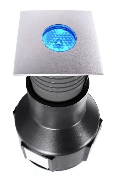 Deko-Light Bodeneinbauleuchte, Easy Square II RGB, Edelstahl, silberfarben, RGB, 30°, 3W, 24V