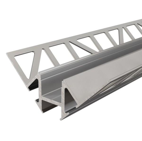 Reprofil Profil, Fliesen-Profil Ecke innen EV-01-12, Aluminium, Silber eloxiert, 2500mm