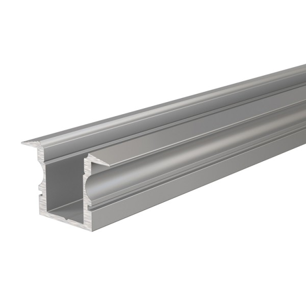 Reprofil, T-Profil hoch ET-02-08 für LED Stripes bis 9,3 mm, Silber-matt, eloxiert, 2000 mm