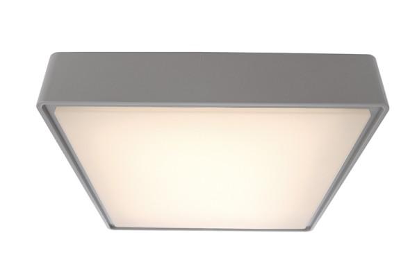 Deko-Light Deckenaufbauleuchte, Quadrata II, Kunststoff, grau, Warmweiß, 115°, 16W, 230V, 296x296mm