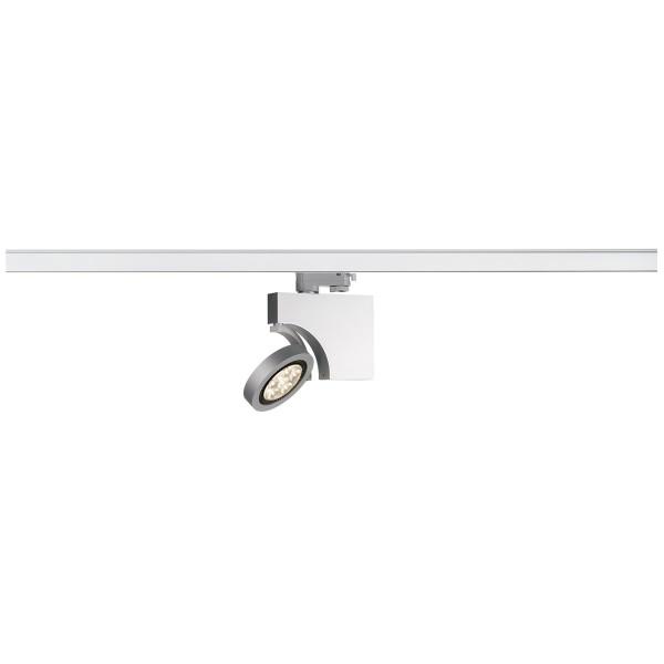 DOMELED, Spot für Hochvolt-Stromschiene 3Phasen, LED, 3000K, silbergrau, inkl. 3Phasen-Adapter