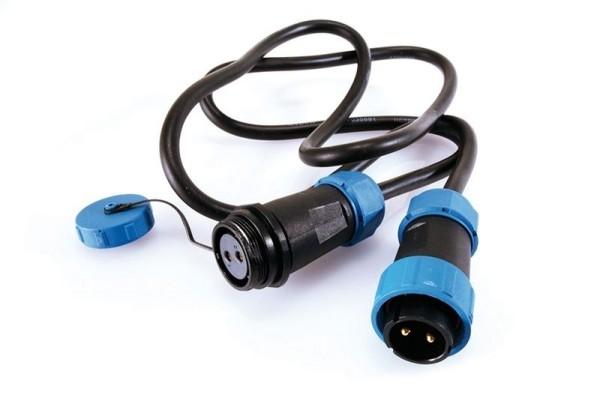 Deko-Light Kabelsystem, Weipu Verbindungskabel 2-polig, Kunststoff, 24V, 3000mm