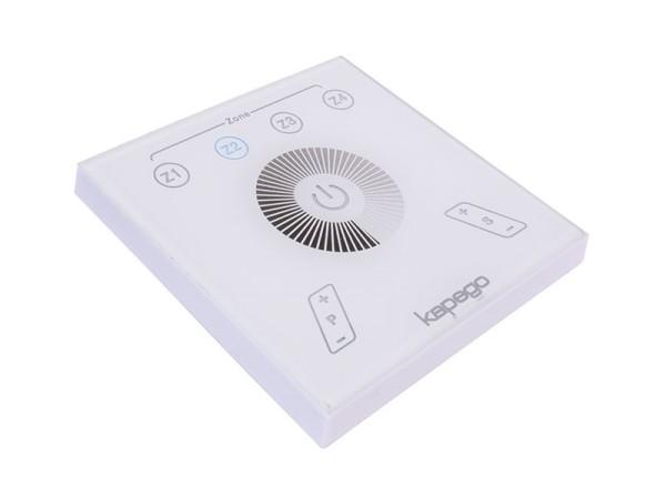 Deko-Light Controller, Touchpanel RF Single, Kunststoff, Weiß, Blau, 2W, 230V, 87x87mm