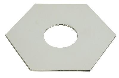 Hexa-Platte für Light Point chrom.